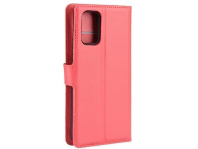 Калъф Тефтер Litchi за Samsung Galaxy S20 FE/S20 Fan Edition/S20 FE 5G/S20 Fan Edition 5G, Червен