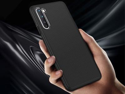 Силиконов калъф Twill за OnePlus Nord, Черен