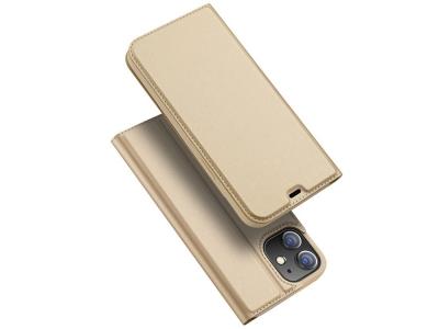 Калъф Тефтер Dux DUCIS за iPhone 12 Mini, Златист