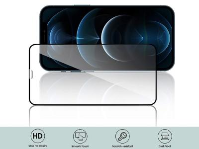 Стъклен Протектор 5D Full Glue за iPhone 12 Pro Max, Черен
