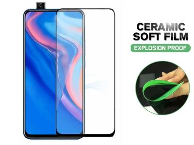 Стъклен Протектор Full Glue Hard Ceramic за Huawei P Smart Z / Y9S, Черен