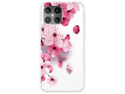 Силиконов калъф iPhone 12 Pro Max 6.7-inch, Розови цветя