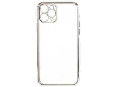 Силиконов Гръб Electroplating за iPhone 12 Pro Max, Сребрист