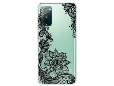 Силиконов калъф за Samsung Galaxy S20 FE / S20 Fan Edition, Дантелени цветя