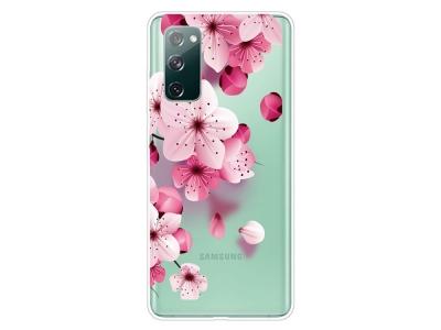 Силиконов калъф за Samsung Galaxy S20 FE / S20 Fan Edition, Розови цветя