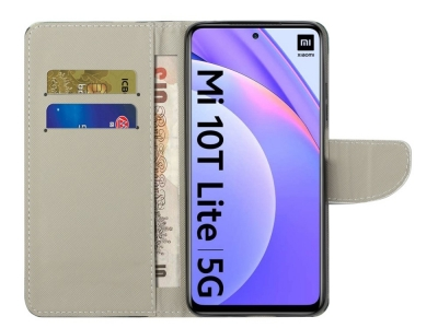 Калъф Тефтер за Xiaomi Mi 10T Lite 5G, Синя Пеперуда
