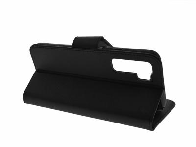 Калъф тефтер Fancy Book за Huawei P40 Lite 5G, Черен
