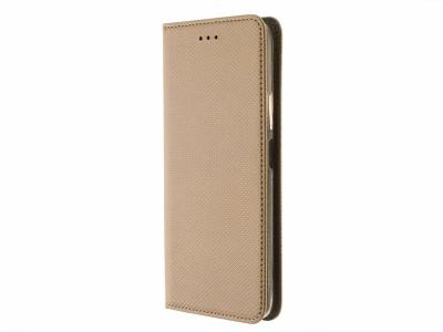 Калъф тефтер Smart Book за Huawei P40 Lite 5G, Златист