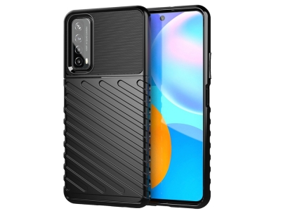 Силиконов Калъф Twill Skin за Huawei P smart 2021 / Huawei Y7a, Черен