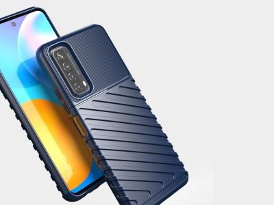 Силиконов Калъф Twill Skin за Huawei P smart 2021 / Huawei Y7a, Син