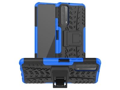 Удароустойчив калъф с поставка Hybrid за Huawei P smart 2021/Y7a, Син