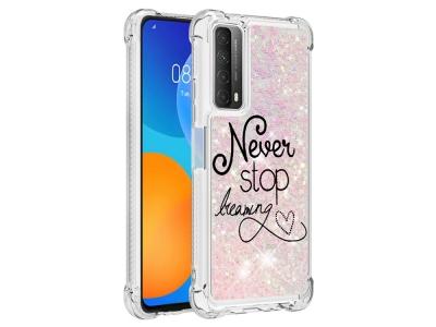 Силиконов калъф Glitter за Huawei P smart 2021 / Huawei Y7a, Never Stop Dreaming