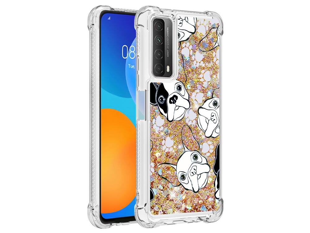 Силиконов калъф Glitter за Huawei P smart 2021 / Huawei Y7a, Куче