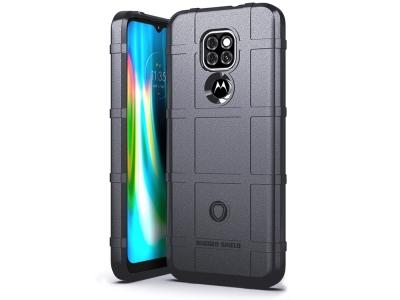 Удароустойчив гръб Grid за Motorola Moto G9 Play/G9 (India)/E7 plus, Сив
