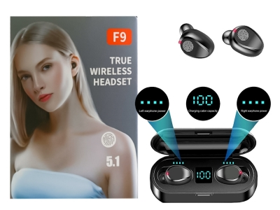 Слушалки TWS Bluetooth F9-5c Черен