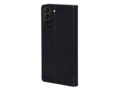 Калъф Тефтер SPECIAL ест. кожа за Samsung Galaxy S21 Plus, Черен