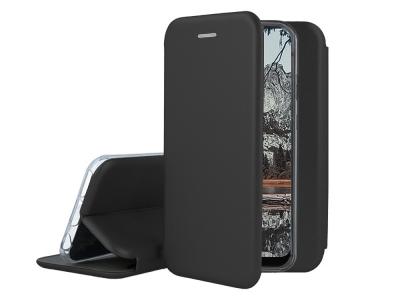 Калъф Тефтер ELEGANCE за Samsung Galaxy S21, Черен