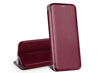 Калъф Тефтер ELEGANCE за Samsung Galaxy S21, Вишнев