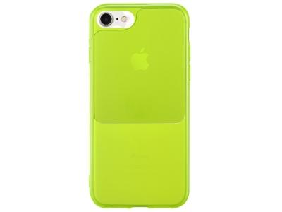 Силиконов калъф Window Case за iPhone 7 / iPhone 8 / SE (2020), Зелен- Жълт