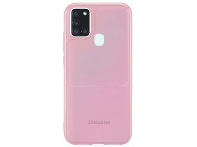 Силиконов калъф Window Case за Samsung Galaxy A21s, Розов