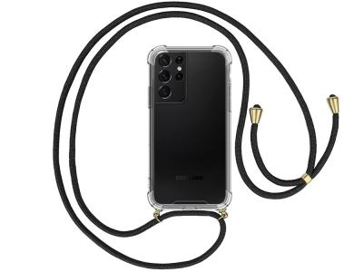 Силиконов калъф с връзка Cord Case Samsung Galaxy S21Ultra, Черна връзка