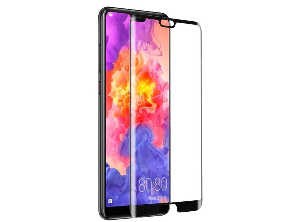 Стъклен протектор 5D Full Glue Huawei P20, Черен
