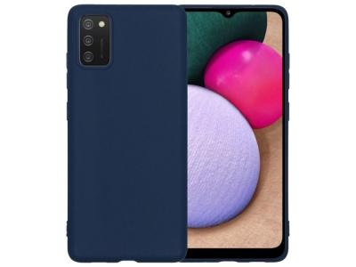 Силиконов калъф Matte за Samsung Galaxy A02s, Тъмно син