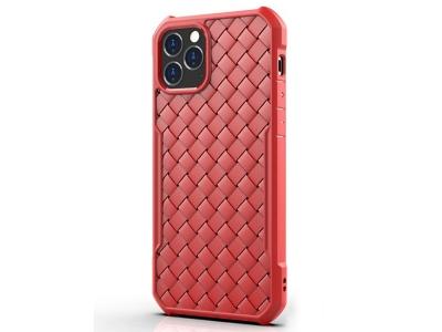 Силиконов калъф Knitting за iPhone 12/12 Pro, Червен