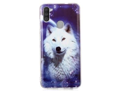 Силиконов калъф Samsung Galaxy A11, Усмихнат вълк