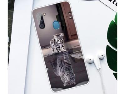 Силиконов калъф Samsung Galaxy A11, Коте и Тигър
