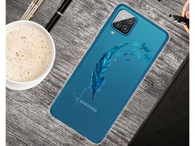 Силиконов калъф за Samsung Galaxy A12, Перо
