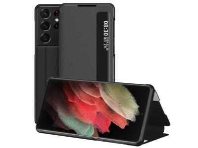 Калъф Тефтер View Window за Samsung Galaxy S21 Ultra 5G, Черен