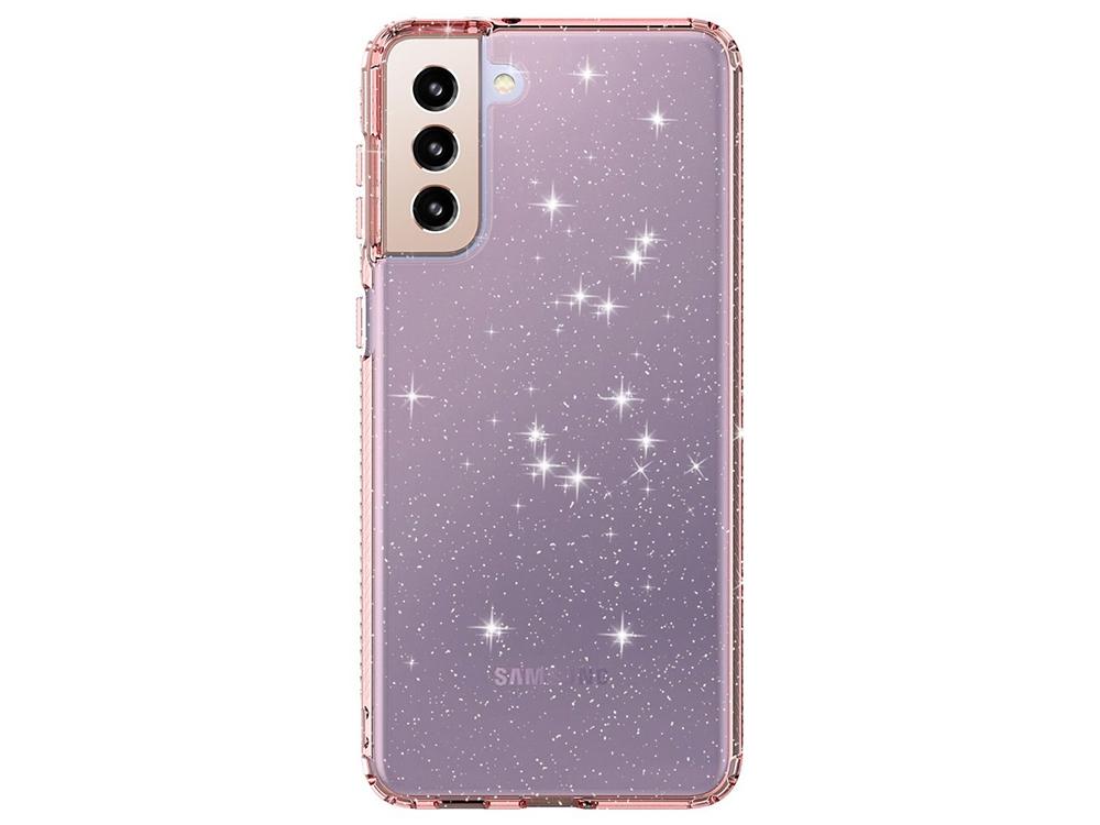 Силиконов калъф Clear Color за Samsung Galaxy S21Plus 5G, Розов