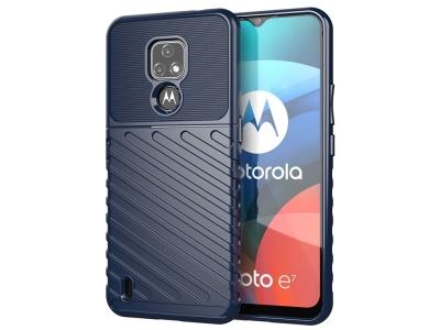 Силиконов Калъф Twill Texture за Motorola Moto E7, Син