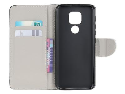 Калъф Тефтер за Motorola Moto E7, Don't Touch My Phone