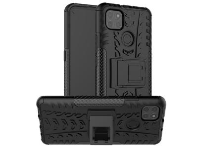 Удароустойчив калъф с поставка Hybrid за Motorola  Moto G9 Power, Черен