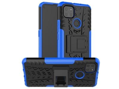 Удароустойчив калъф с поставка Hybrid за Motorola Moto G9 Power, Син