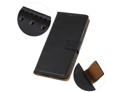 Калъф Тефтер за Motorola Moto E7, Черен