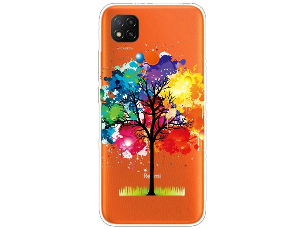 Силиконов калъф за Xiaomi Redmi 9C, Цветно дърво