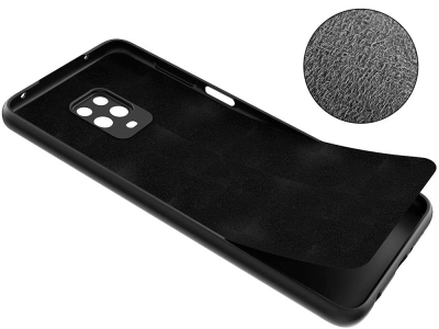 Силиконов гръб Silicone Lite за Xiaomi Redmi Note 9S / 9 Pro / 9 Pro Max , Черен