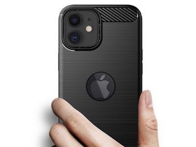 Силиконов Калъф Carbon Fibre за iPhone 11, hole, Черен