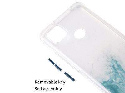 Удароустойчив калъф за Xiaomi Redmi 9C, Мрамор- Тюркоаз