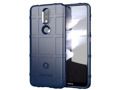 Удароустойчив Калъф Grid за Nokia 2.4, Син