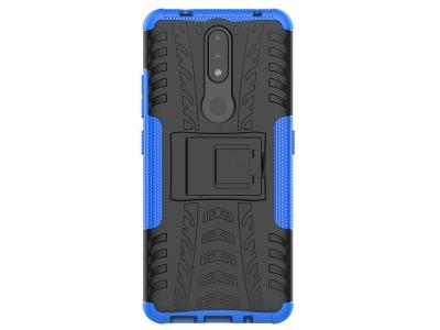 Удароустойчив калъф с поставка Hybrid за Nokia 2.4, Син