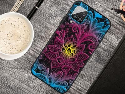 Силиконов калъф Matte за Samsung Galaxy A12, Дантелено цвете