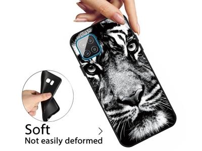 Силиконов калъф Matte за Samsung Galaxy A12, Тигър
