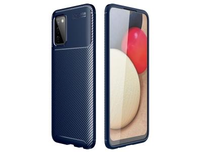 Силиконов Калъф Beetle Carbon за Samsung Galaxy A02s, Син