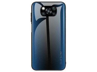 Калъф Гръб Glass за Xiaomi Poco X3/Poco X3 NFC, Син