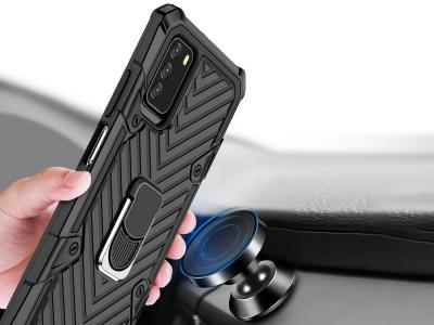 Удароустойчив калъф Kickstand за Xiaomi Poco M3, Черен