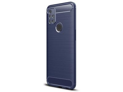 Силиконов Калъф Carbon Fibre за OnePlus Nord N10 5G, Син